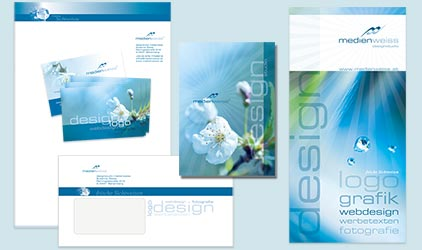 Corporate Design medienweiss